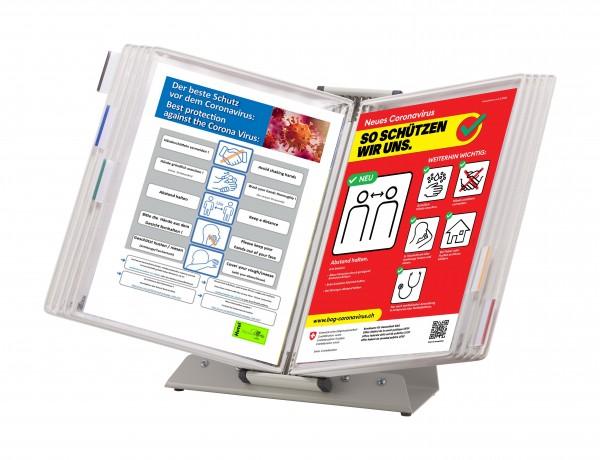 Sichttafel-Set mit Tischständer (antimikrobiell)