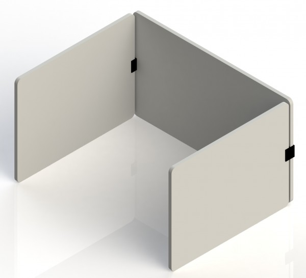 Tischtrennwand - AcousticLine - Set 3 Panels