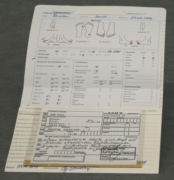 Dreifachkarte Orthopädie-Schuhtechnik DIN A5 quer