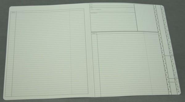 Doppelkarte neutral DIN A4 quer