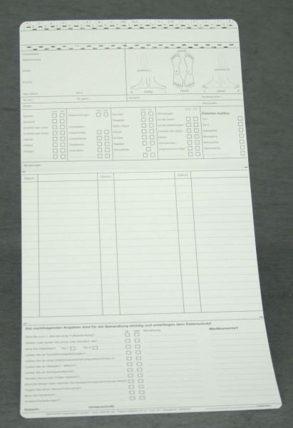 Dreifachkarte Podologie (1) DIN A5 quer