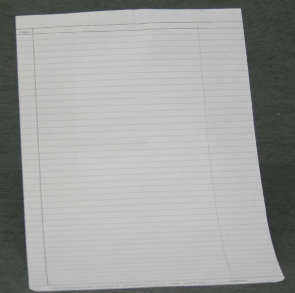 Einlegeblatt liniert mit Kleberand
