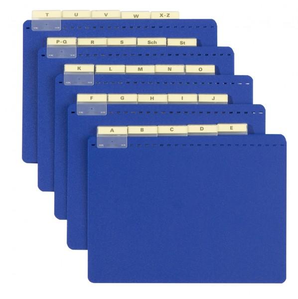 Leitkarten mit Vollsichtreitern und Alphabet für DIN A4 quer