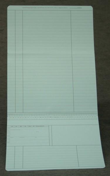 Dreifachkarte neutral in blau DIN A5 quer