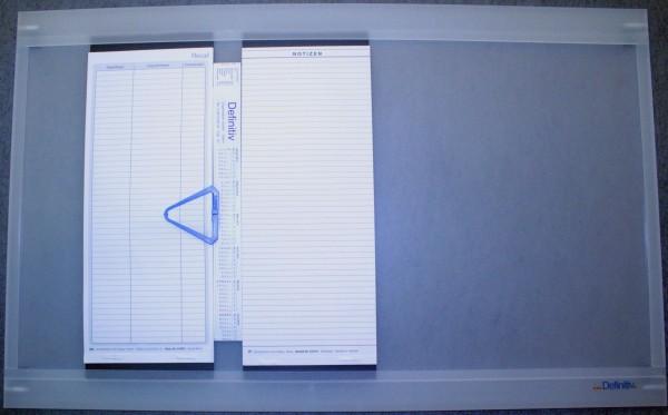 Grundplatte für 7 Termineinheiten (System Breit)